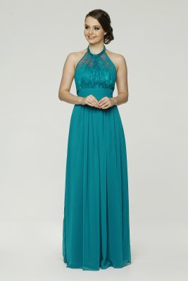 Harlow Bridesmaids Dress PO33 Aqua Small