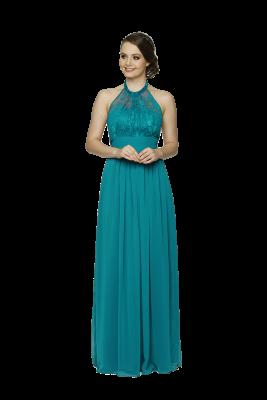 PO33 Harlow Dress Aqua