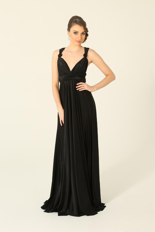 PO31 wrap dress black