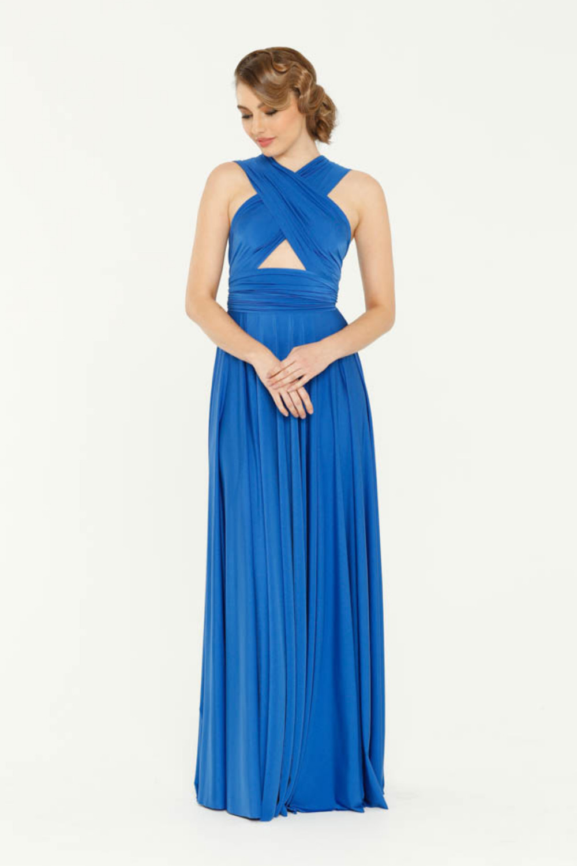 PO31 wrap dress cobalt