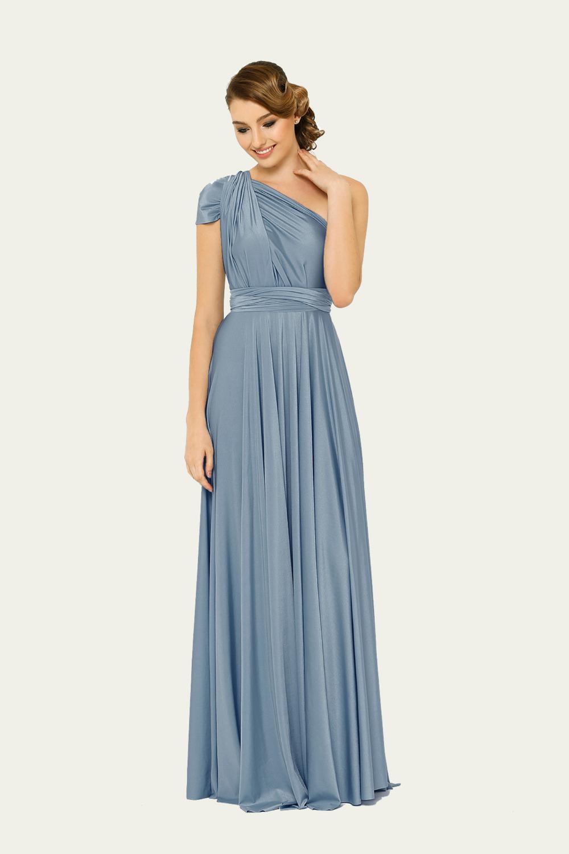 PO31 wrap dress dusty blue