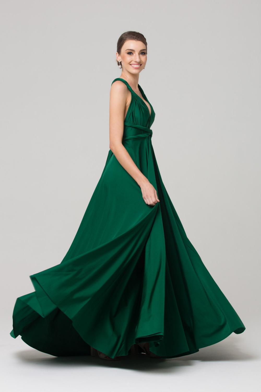 PO31 wrap dress emerald