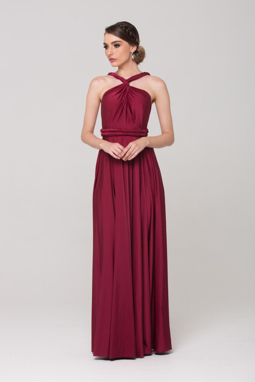 PO31 wrap dress merlot