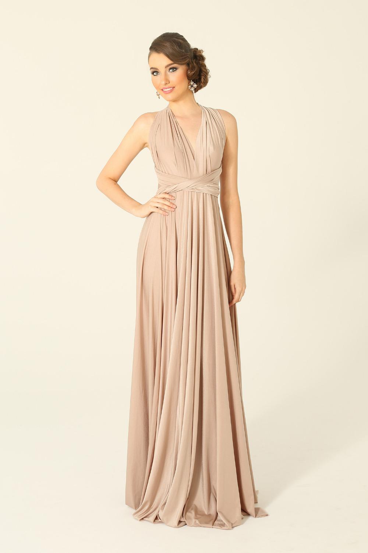 PO31 wrap dress pearl blush