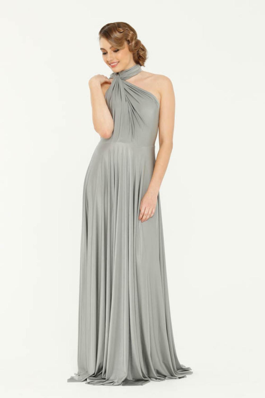 PO31 wrap dress platinum