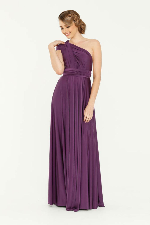 PO31 wrap dress purple