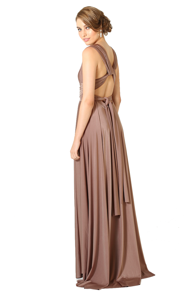 Po31 Wrapdress Back Mocha