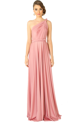 Po31 Wrapdress Blush Front