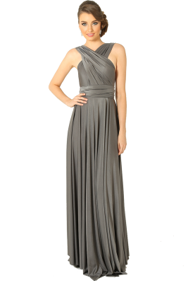 Po31 Wrapdress Charcoal Front