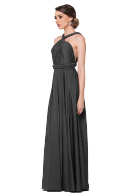 Po31 Wrapdress Charcoal Side