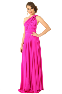 Po31 Wrapdress Fuschia Side