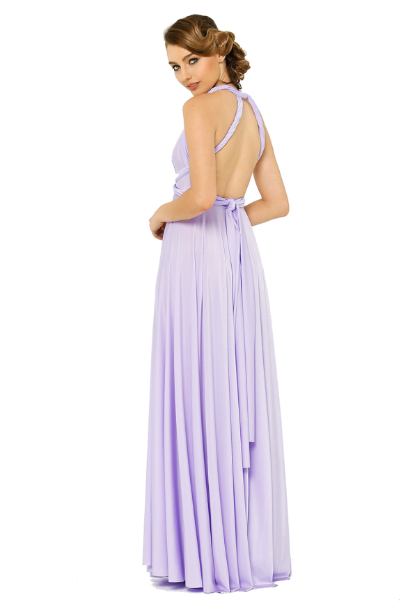 Po31 Wrapdress Lilac Side
