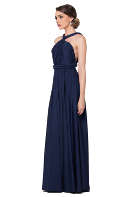 Po31 Wrapdress Navy Side