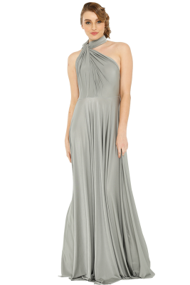Po31 Wrapdress Platinum Front