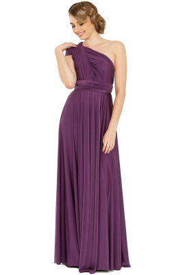 Po31 Wrapdress Purple Front