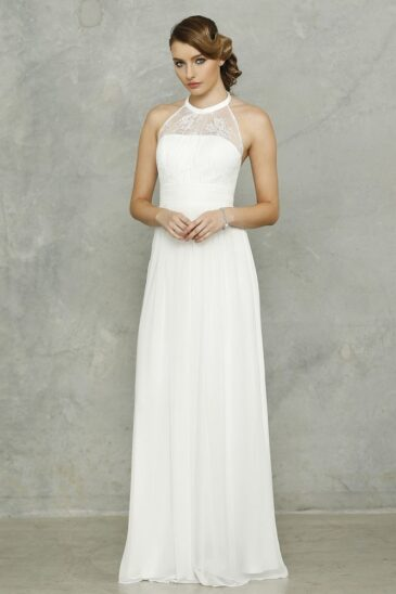 PO33 Harlow Dress Vintage White