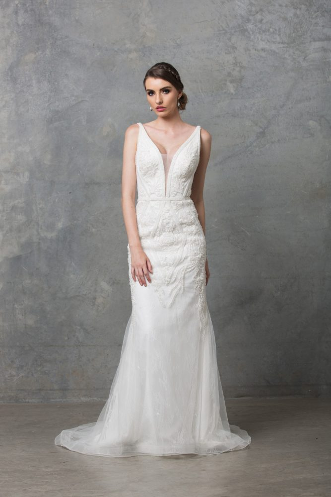 Adelia Beaded Wedding Dress TC226