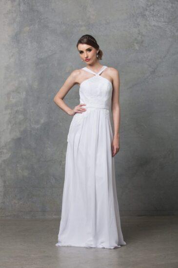 Bella Debutant Dress TO60 Pure White