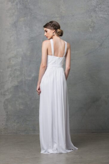 Bella Debutant Dress TO60 Pure White Back