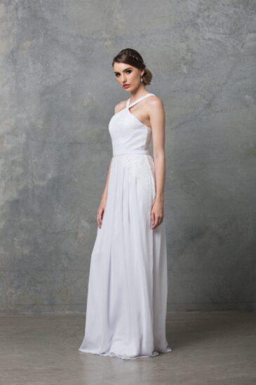 Bella Debutant Dress TO60 Pure White Side