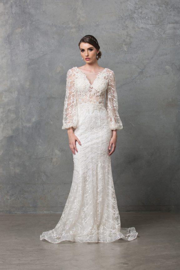 Catalina Long Sleeve Wedding Dress TC220 Ivory 1 1