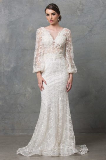 Catalina Long Sleeve Wedding Dress TC220 Ivory 1 1