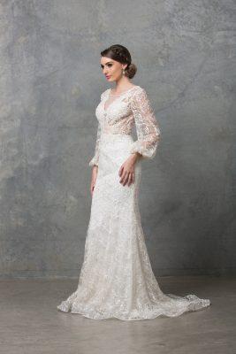 Catalina Long Sleeve Wedding Dress TC220 Ivory 1