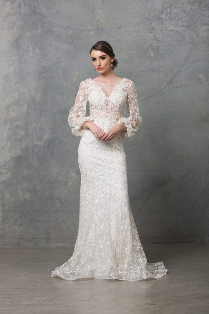Catalina Embroidered Tulle Classic Bridal Collection