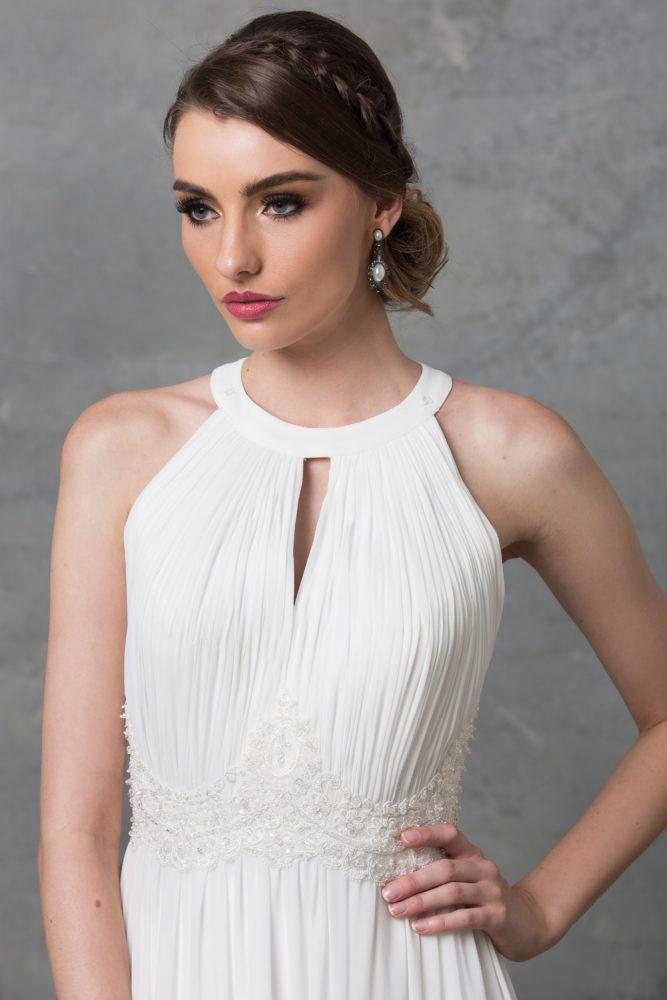 Chiarie Wedding Dress TC229 V White Close Up