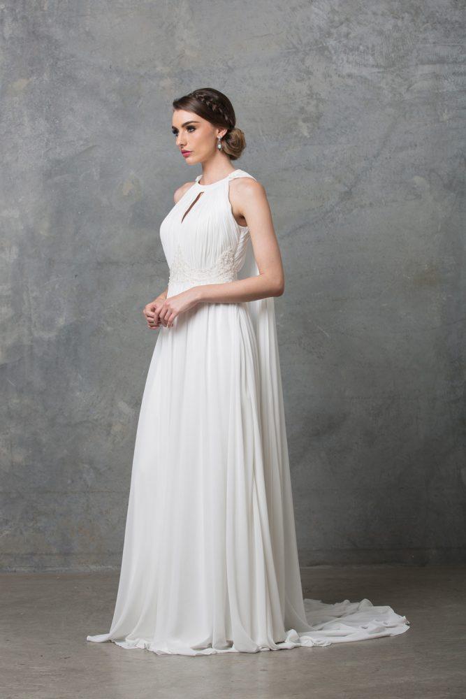 Chiarie Wedding Dress W Cape TC229 V White Side