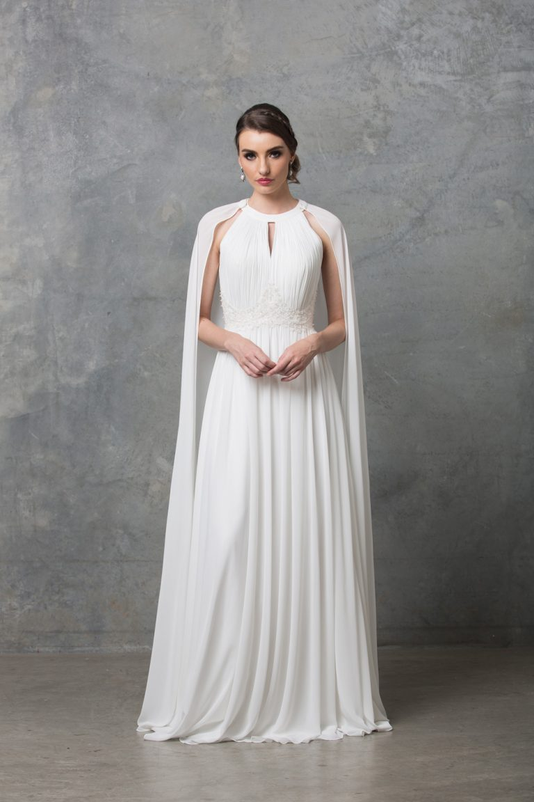 Chiarie Wedding Dress With Detachable Cape TC229