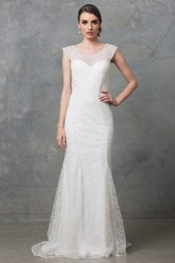 Kalisi wedding dress TC012 V white 1