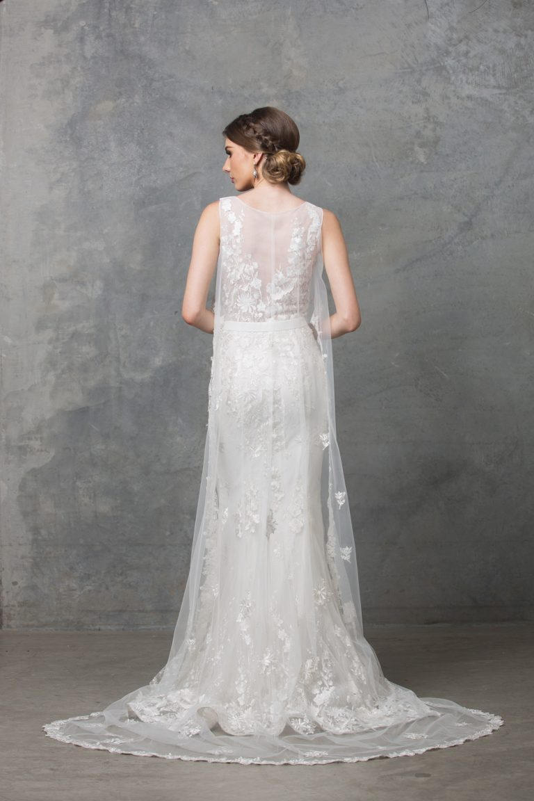 Lilith Wedding Dress TC222 V White Back
