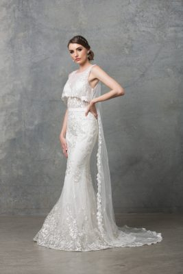Lilith Wedding Dress TC222 V White Side