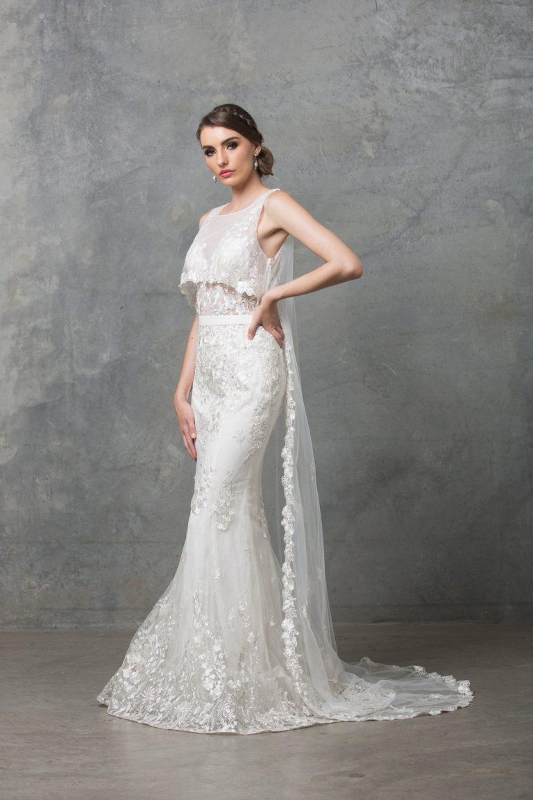 Lilith Wedding Dress TC222 V White Side