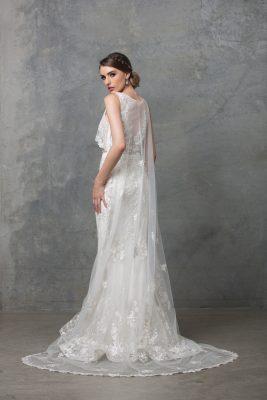 Lilith Wedding Dress TC222 V White Side Back