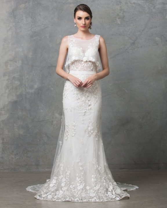 Lilith Wedding Dress TC222 V White