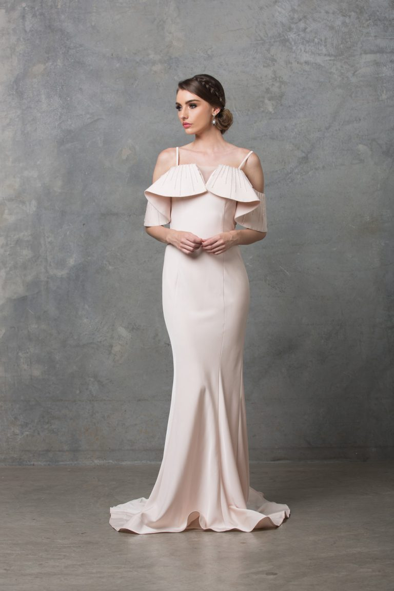 Margot Wedding Dress TC216 Pearl Pink