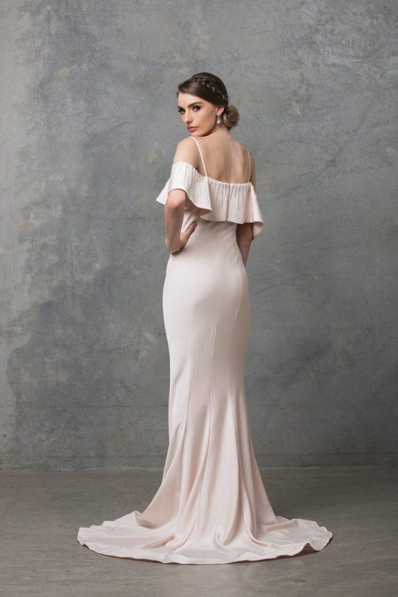 Margot Wedding Dress TC216 Pearl Pink Back