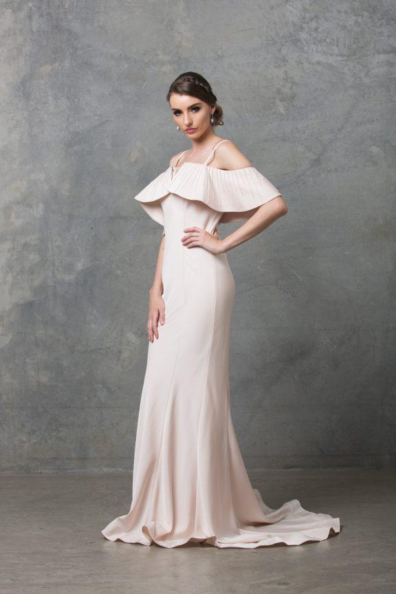 Margot Wedding Dress TC216 Pearl Pink Side