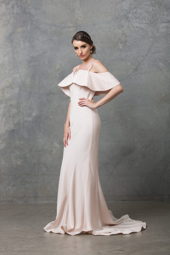 Margot Wedding Dress TC216 Pearl Pink Side