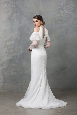 Ophelia wedding dress TC225 V white back 1