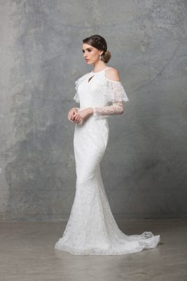Ophelia wedding dress TC225 V white side 1