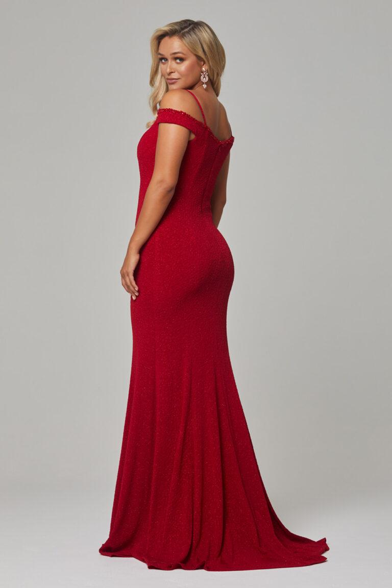 PO590 Red Alicia dress back