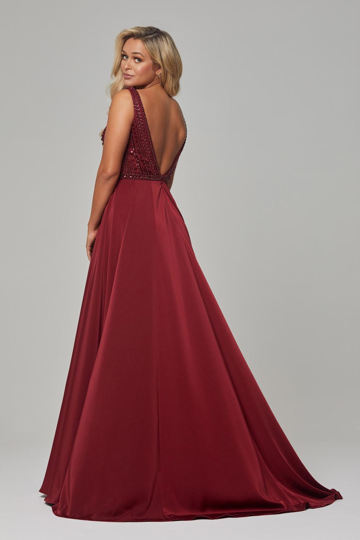 PO592 Wine Addilyn dress back
