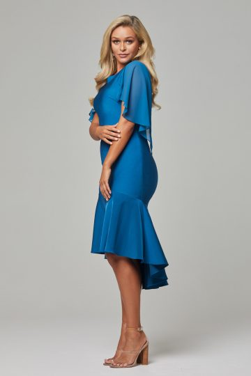 PO92 Teal Evelyn dress side 1