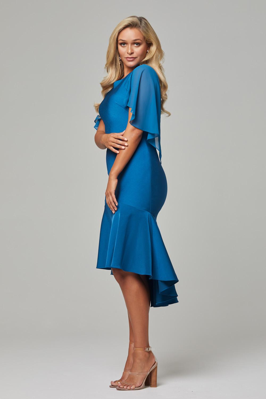 PO92 Teal Evelyn dress side 1