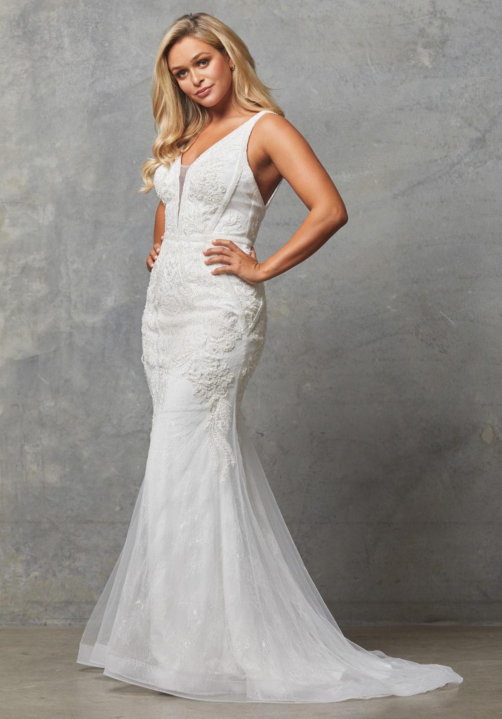 TC226 Vinatge white Adelia dress side