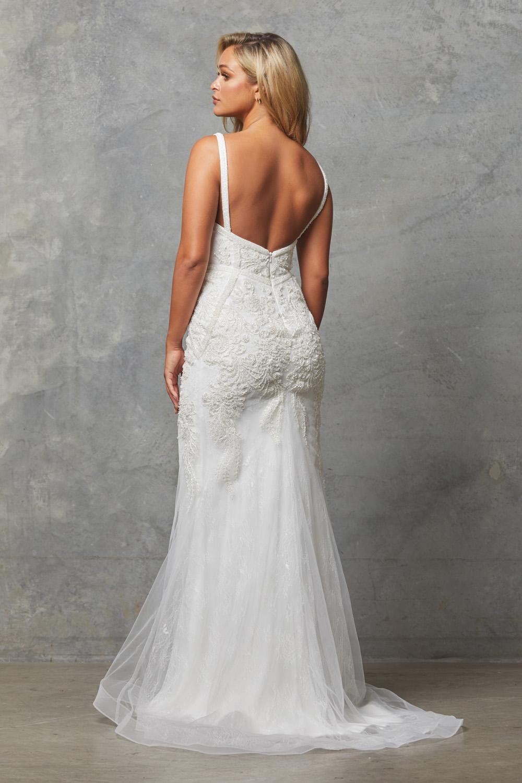 TC226 Vintage white Adelia dress back