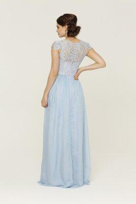 TO16 Latitia dress pastel blue back